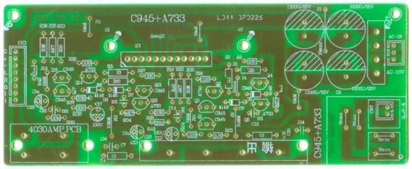 互补对称电路展宽电路的通频带;功率输出级采用sla4030模块btl接法